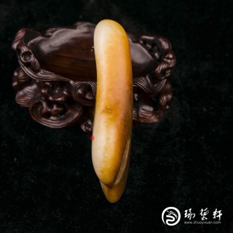 【琢艺轩】新疆和田玉红沁一级白玉籽玉 原石 95克