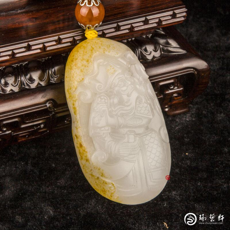 【琢艺轩】穆宇静 新疆和田玉红皮羊脂白玉籽玉(独籽)把件  攻守兼备 91克