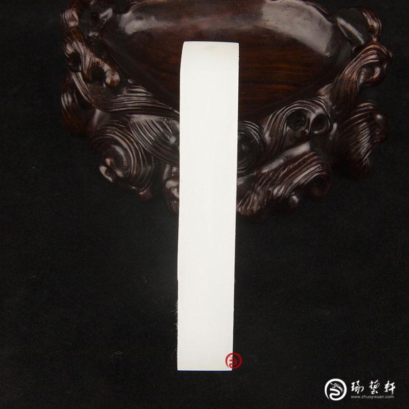 【琢艺轩】新疆和田玉白皮羊脂白玉籽玉原料  96克