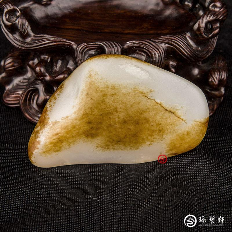 【琢艺轩】新疆和田玉枣红皮白玉籽玉   原石 43克