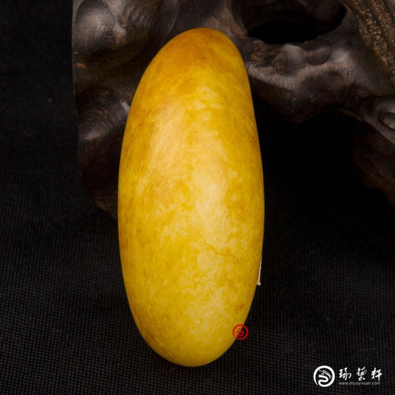 【琢艺轩】新疆和田玉洒金皮白玉籽玉    原石 102克