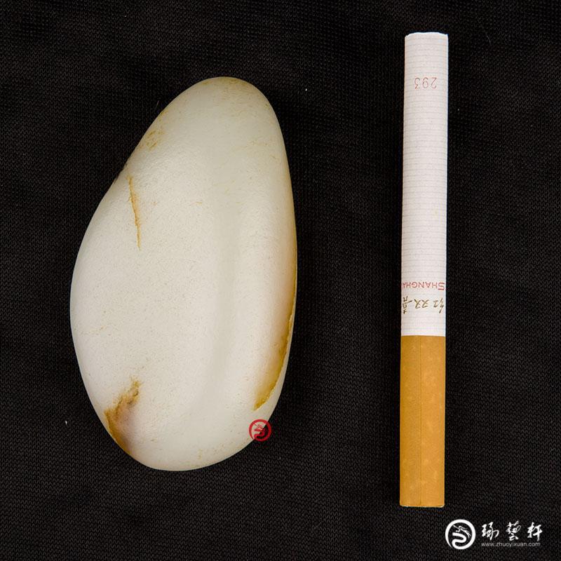 【琢艺轩】新疆和田玉黄皮白玉籽玉原石 84克