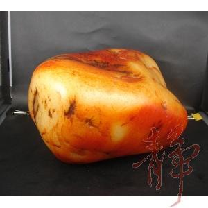 新疆和田玉紅皮一級白玉籽玉原料5500克