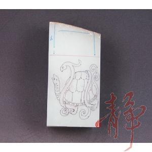 新疆和田玉枣红皮白玉籽玉 四灵印章  (已完工) 209克