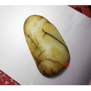 新疆和田玉秋梨皮一级白玉籽玉原石3900克