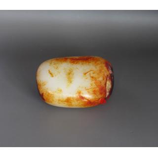 新疆和田玉红皮羊脂白玉籽玉 原石 268克