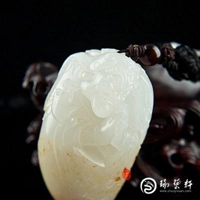 【琢艺轩】穆宇静作品 新疆和田玉黄皮羊脂白玉籽玉(独籽)把件   散脂大将   86克