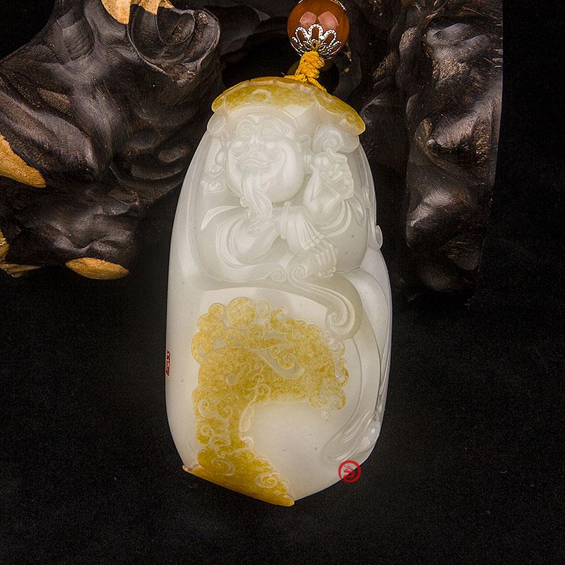 新疆和田玉红皮羊脂白玉籽玉把件  鸿运当头(独籽) 198克