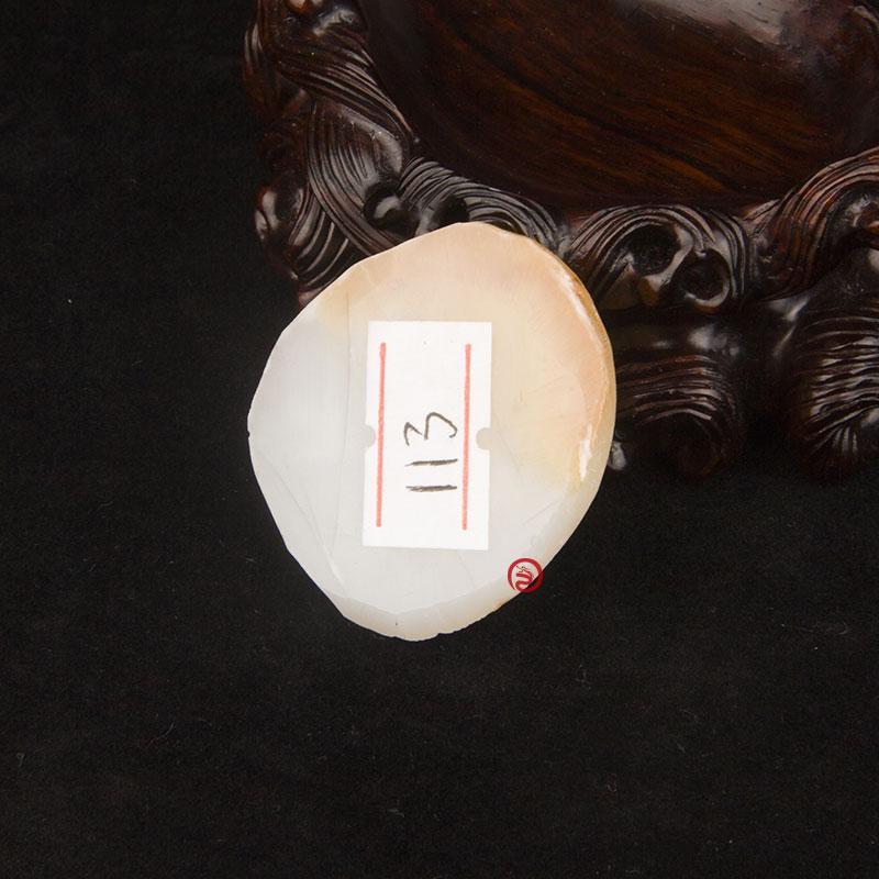 新疆和田玉红皮羊脂白玉籽玉 原料 24克